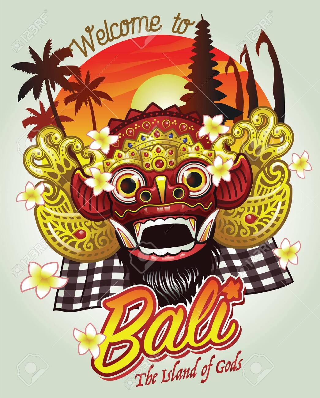 bali barong greeting welcome.