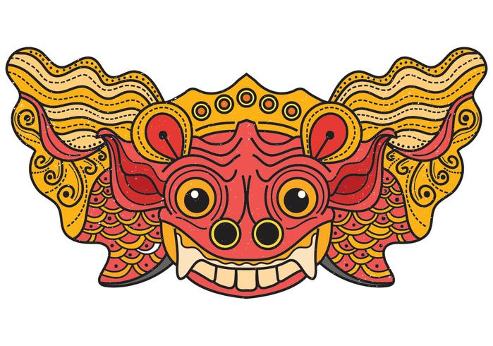 Barong Bali Mask.