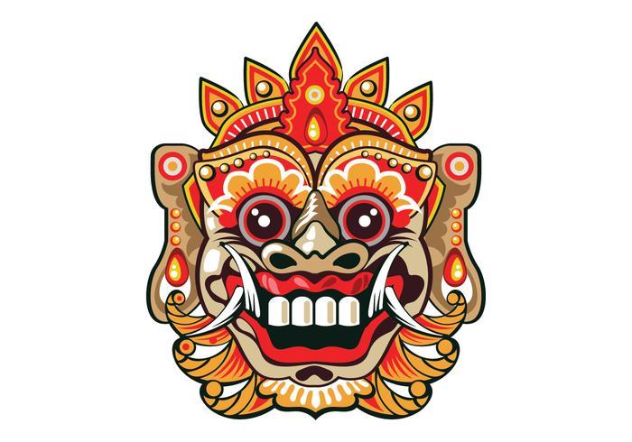 Bright Barong Mask.
