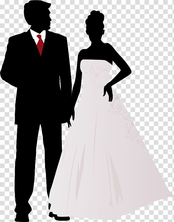Wedding invitation Marriage , silhouette wedding transparent.