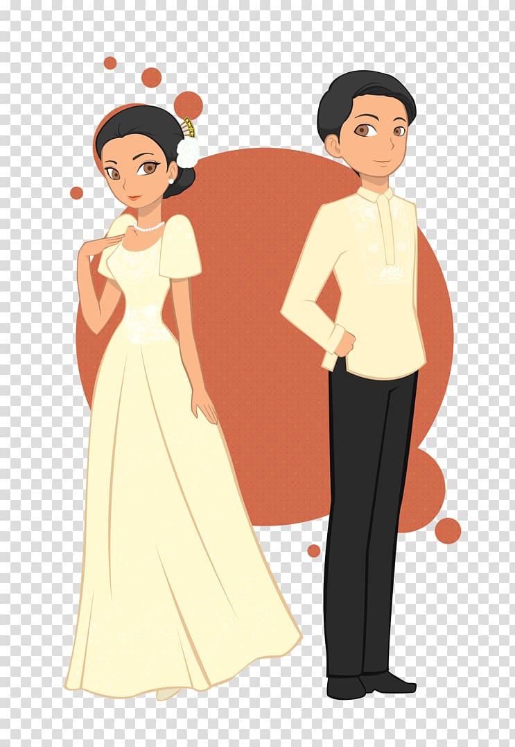 Bride and groom , Fashion and clothing in the Philippines.