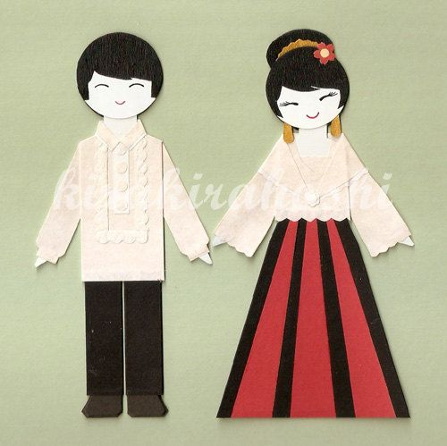 FILIPINO BOY and GIRL Couple in Barong Tagalog by.