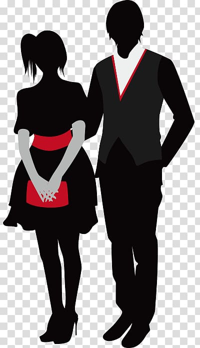 Prom , Couple Dress Western transparent background PNG.