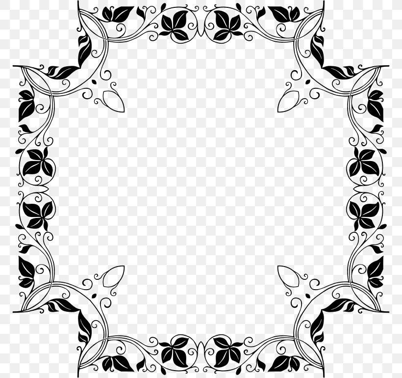 Borders And Frames Baroque Ornament Notan Clip Art, PNG.