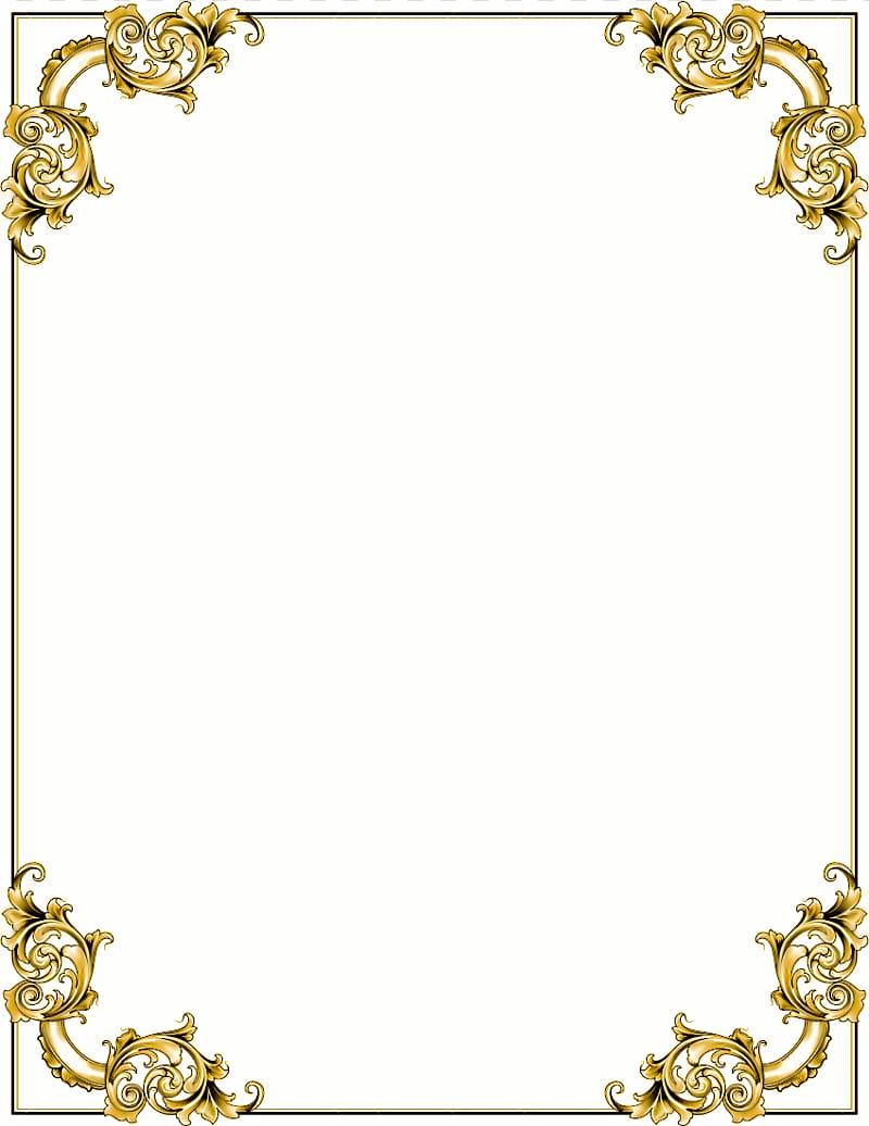 Baroque Ornament Gold frame , Cross Borders transparent.