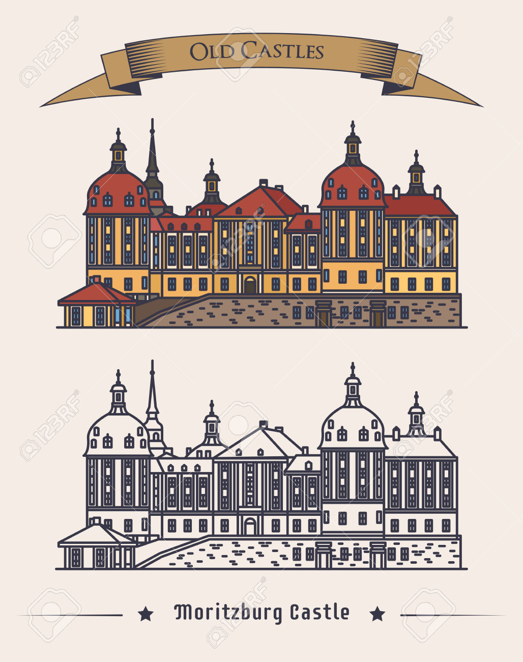 Moritzburg Germany Castle In Saxony Exterior Or Outdoor View.