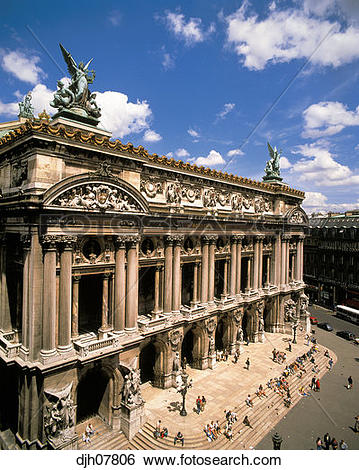 Stock Images of The Opera Neo Baroque Architecture, Paris, France.