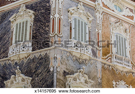 Stock Image of Spain, Valencia, Baroque building of National.