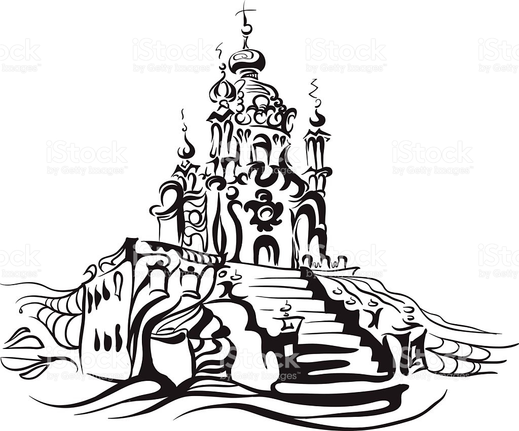 Illustration Of The Orthodox Church In The Baroque Style stock.