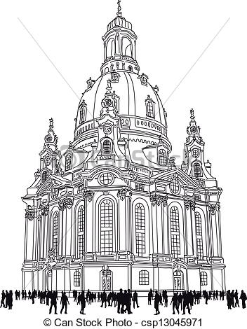 Vectors Illustration of church of our lady.