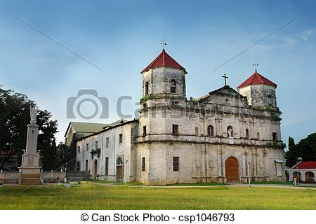 Stock Photos of Old Baroque Filipino Church..