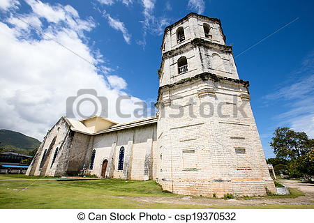 Stock Photos of An old baroque church in the Oslob, Philippines.