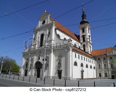 Stock Photo of Brno, church of St. Thomas.
