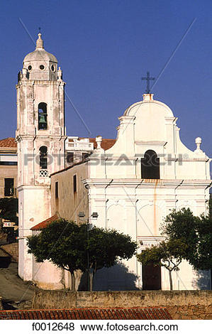 Pictures of Corsica, Cargese, baroque church f0012648.