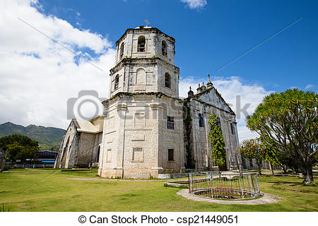 Stock Images of An old baroque church in the Oslob, Philippines.