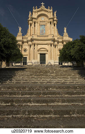 Stock Photograph of Baroque church of S. Giovanni Evangelista.