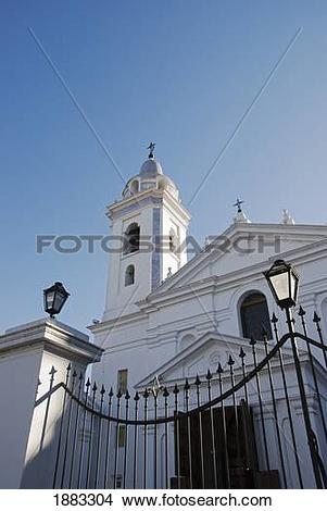 Stock Photo of The Baroque Church In Recoleta; Buenos Aires.