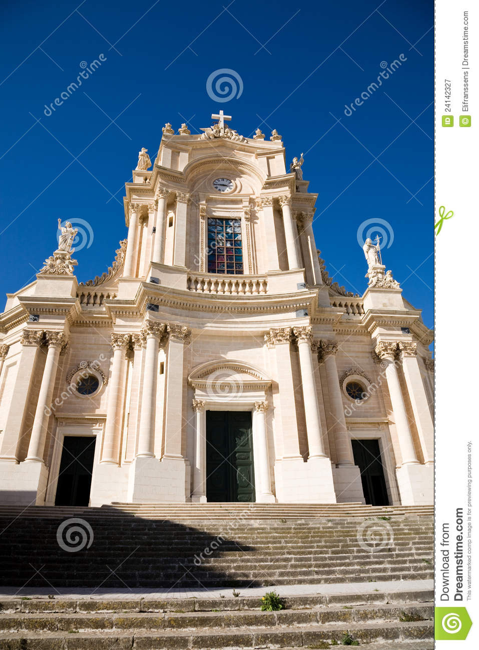 Baroque Church, Modica, Sicily Royalty Free Stock Photography.