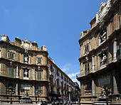 Stock Images of On the streets of Palermo, Sicily. The Baroque.