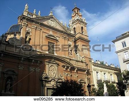 Stock Image of Baroque church Valencia city Spain we095285.