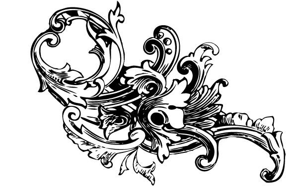 Baroque Ornament Vectors Vol1 clip arts, free clip art.