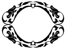 Baroque Clipart. All Curves Separately. Royalty Free Stock Images.
