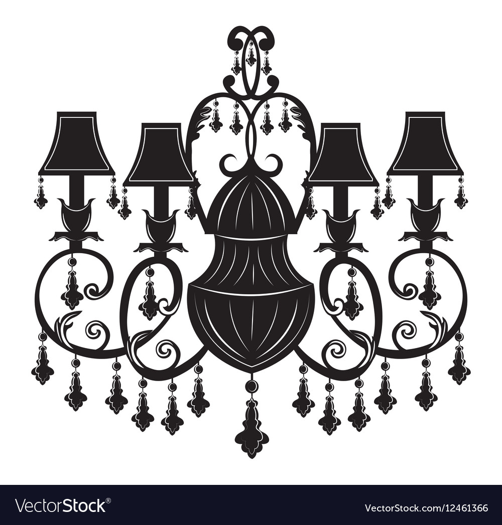 Baroque Elegant Wall lamp with ornaments.