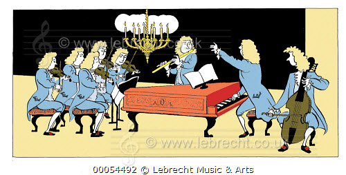 Lebrecht Music and Arts Photo Library Baroque ensemble Piano.
