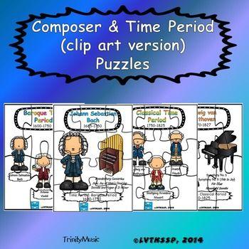 Composer & Time Period (clip art version) Puzzles.