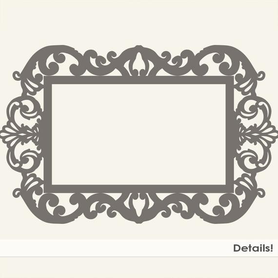 Ornate Baroque Frame Clip Art, Gothic Digital Frames, ClipArt & Photoshop  Brush, Elegant Victorian Digital Stamp, Frame Silhouette.