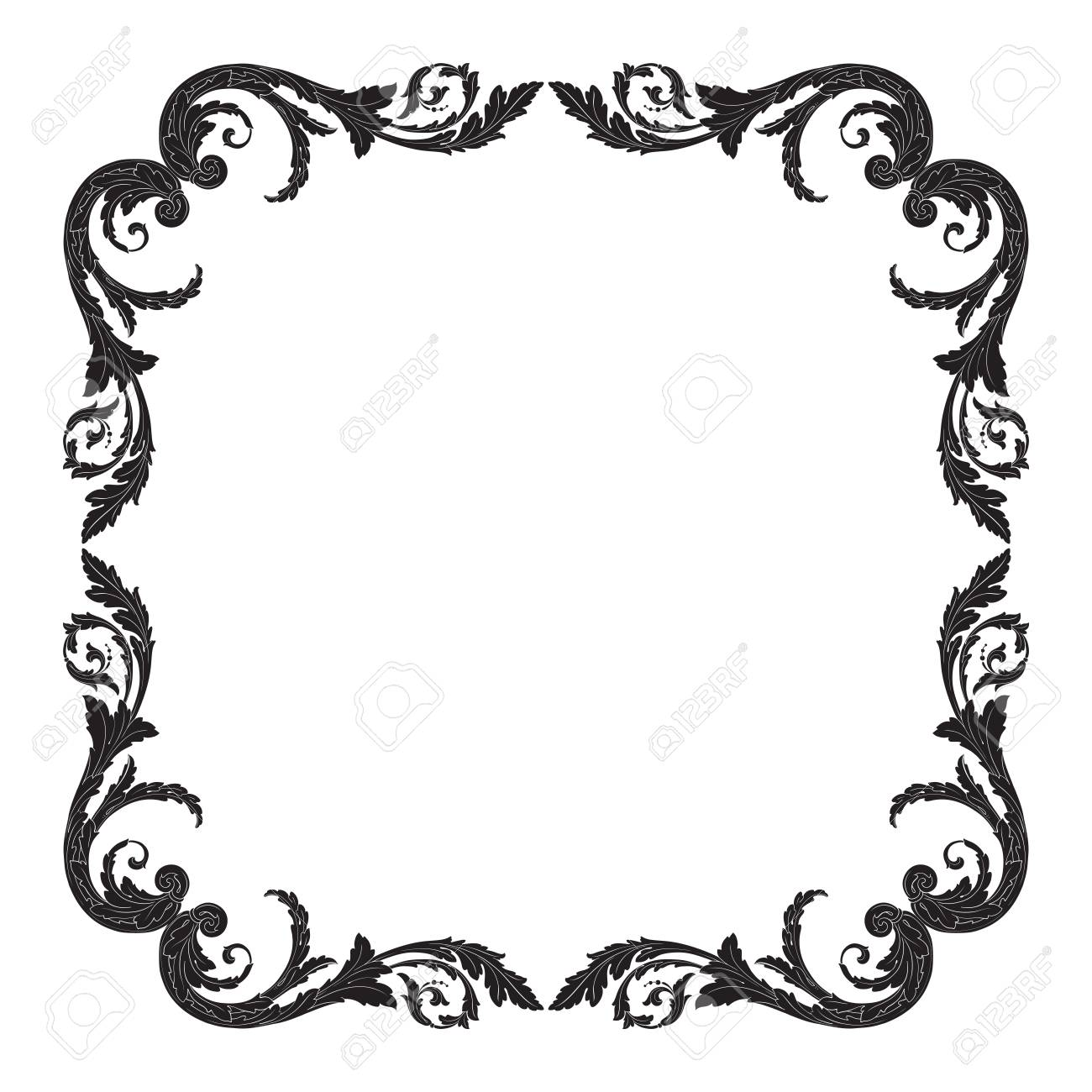 Baroque Frame Cliparts 12.