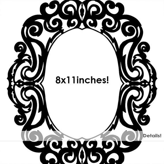 Ornate Baroque Frame Clip Art Gothic Digital Frames by FishScraps.