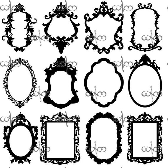 Baroque Frames Clip Art Graphic Design Pattern for your art projects.