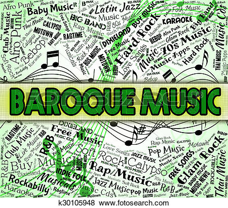 Stock Illustration of Baroque Music Indicates Sound Track And.