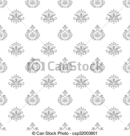 Vector Clipart of Wallpaper in baroque style. Background seamless.