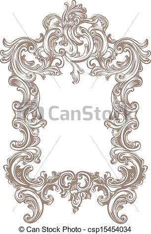 Vectors of Frame Baroque.