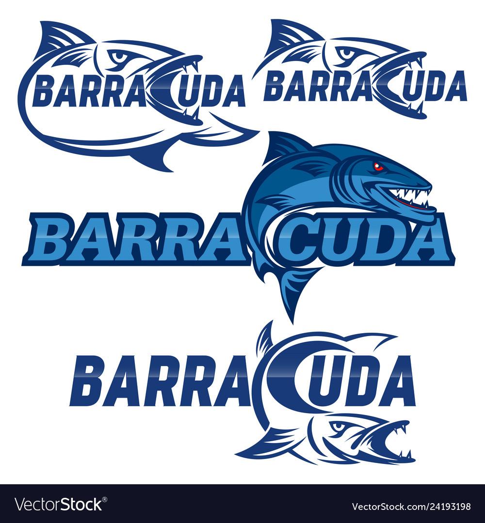 Modern barracuda logo.