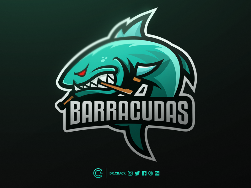 Barracudas Mascot Logo by Alec Des Rivières on Dribbble.