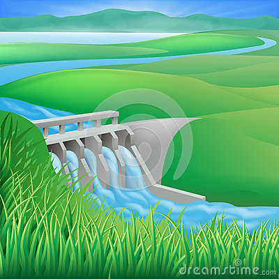 Hydroelectric Stock Illustrations.