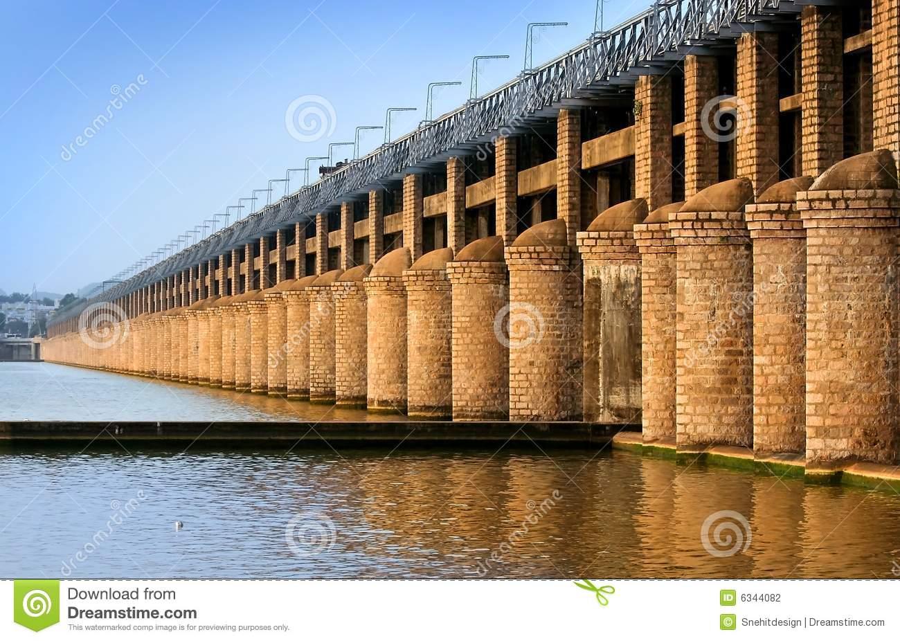 Prakasam Barrage Bridge Stock Photography.