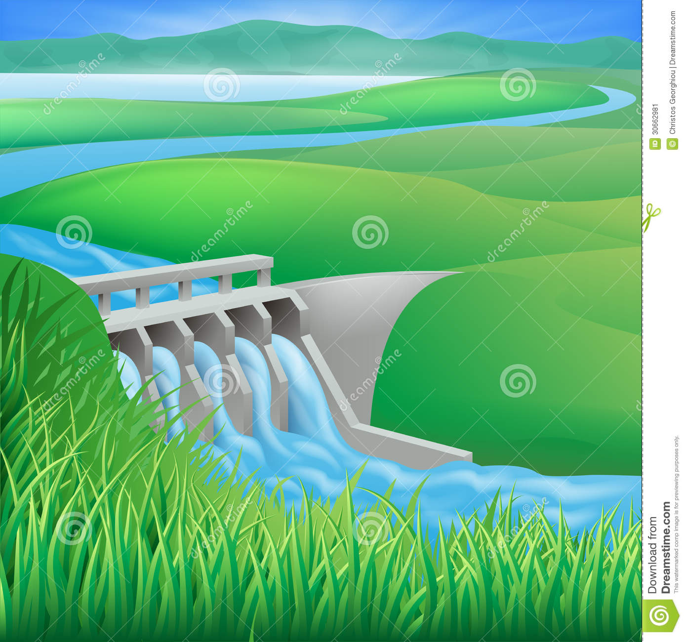 Water energy clipart.