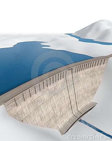 Dam Bridge Stock Illustrations.