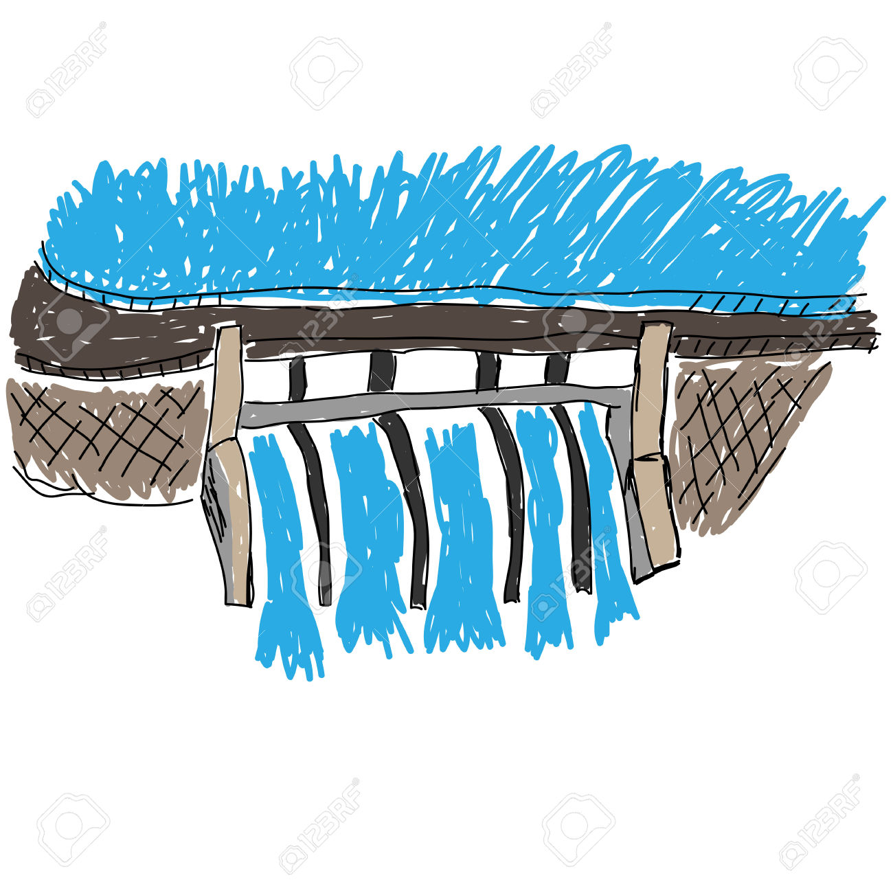 Water Dam Vector Image Royalty Free Cliparts, Vectors, And Stock.