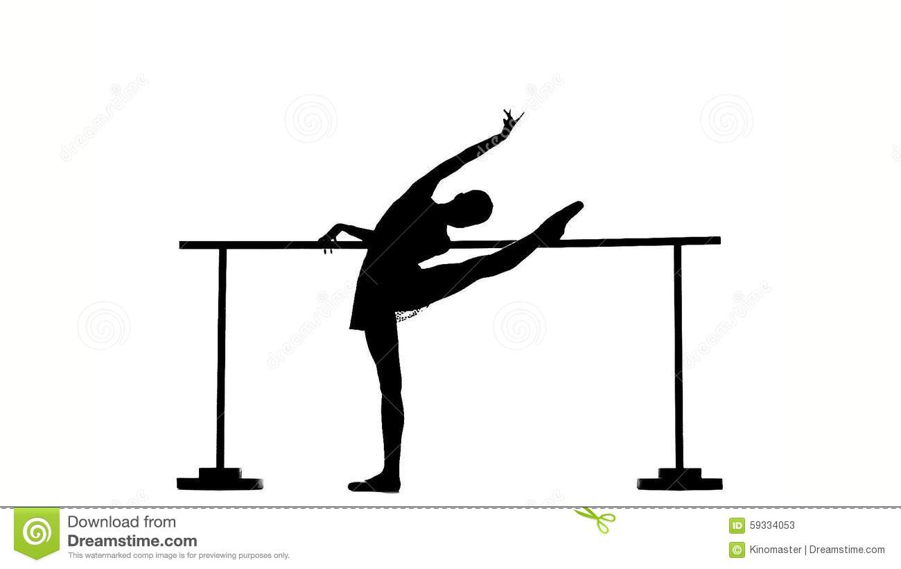 Ballet barre clipart.
