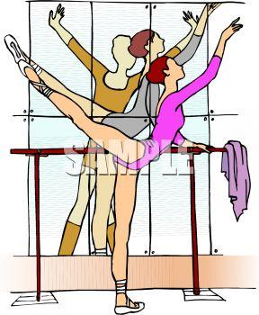 Ballet Dancer Practicing on the Barre.