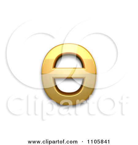 3d Gold cyrillic small letter barred o Clipart Royalty Free CGI.