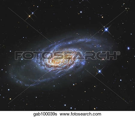 Stock Images of NGC 2903 is a barred spiral galaxy in the.
