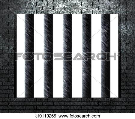 Stock Illustration of Prison Window k10119127.