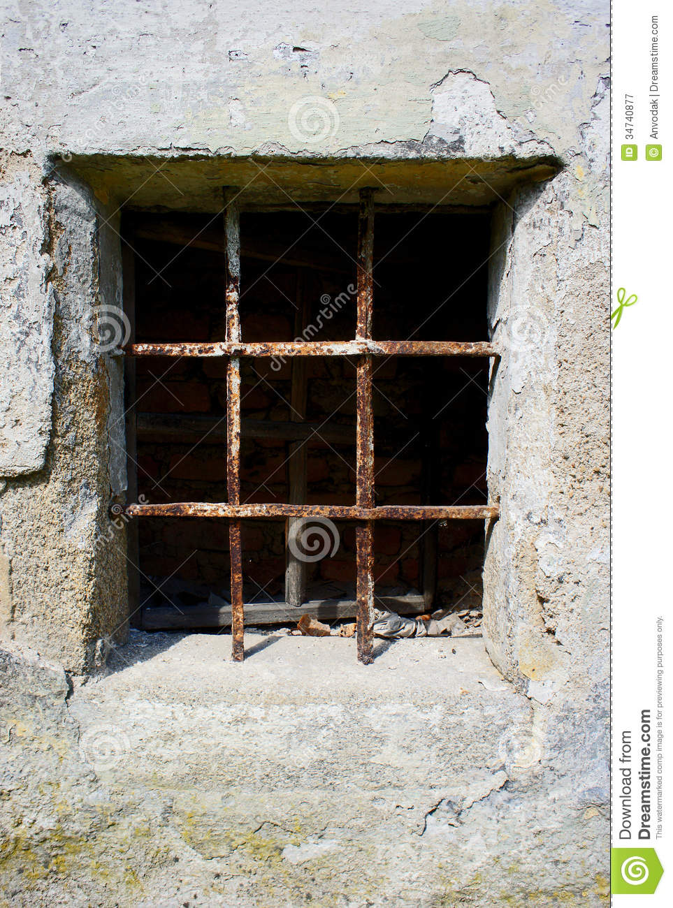 Barred Window Royalty Free Stock Photography.