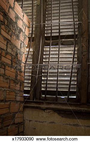 Stock Photography of Metal barred window x17933090.